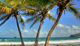 Windstar Cruises beach at Pigeon Island Saint Lucia caribbean