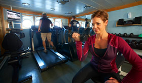 Windstar Cruises Fitness Center with Woman
