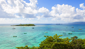 Windstar Cruises Guadeloupe Lesser Antilles view from Le Gosier over Dupuy Bay