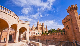Windstar Cruises Palma de Mallorca La Seu Cathedral and Allmudaina Castle