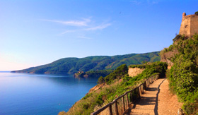 Windstar Cruises Walkpath in Porto Azzurro Elba island Italy