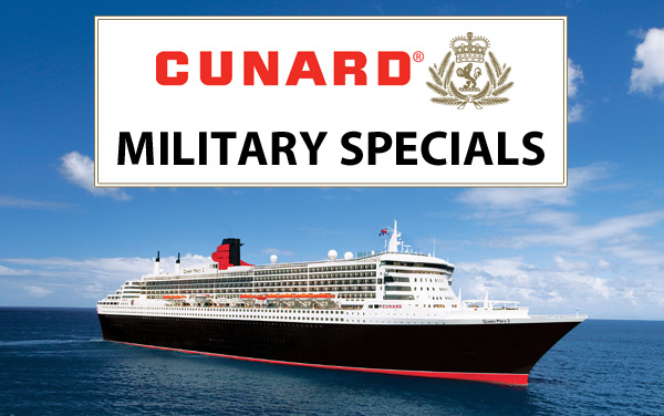 Cunard: up to $250 Onboard Credit for Military