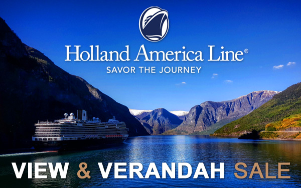 Holland America View & Verandah Sale