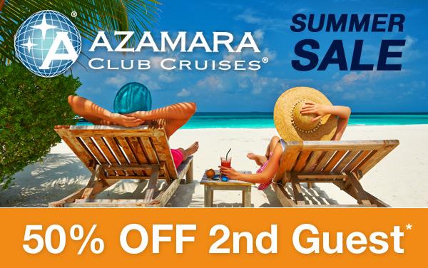 Azamara Club Cruises: 50% OFF 2nd Guest*