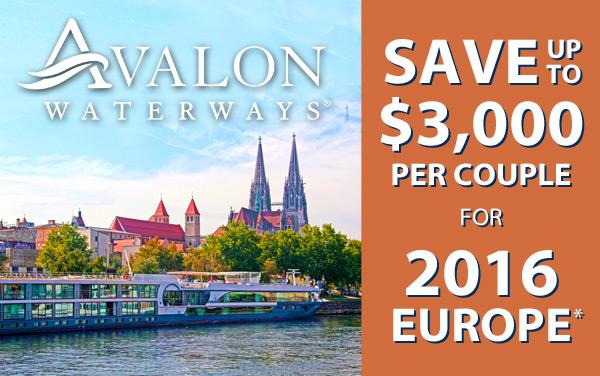 Avalon Waterways: up to $3,000 Savings for Europe*