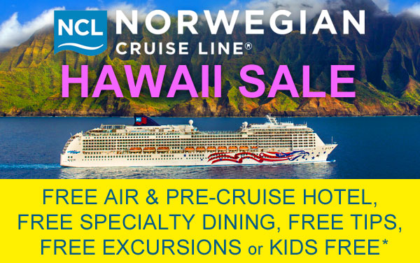 Norwegian Hawaii Deal: Choose Your FREE Offer*