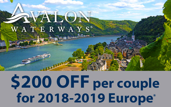 Avalon Waterways: EXTRA $200 OFF Europe*