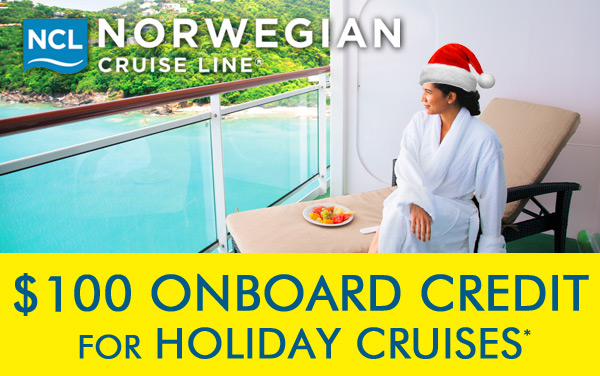 Norwegian Holiday Sale: $100 Onboard Credit*
