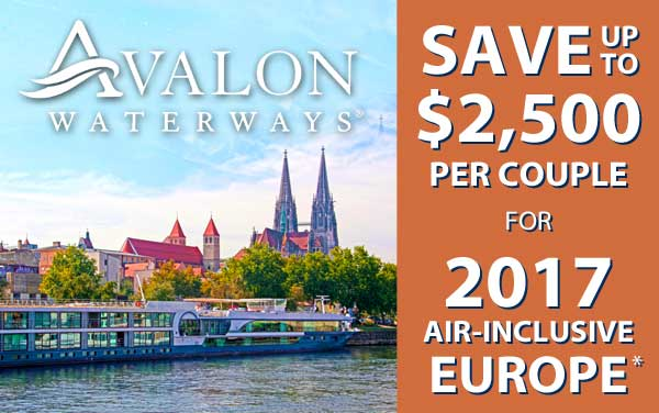 Avalon: up to $3,000 OFF Air-Inclusive Fares*