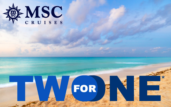 MSC Cruises: 2-for-1 Fares*