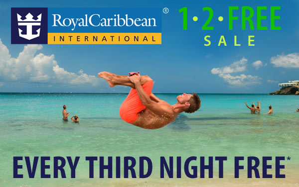 Royal Caribbean: Every 3rd Night is FREE*