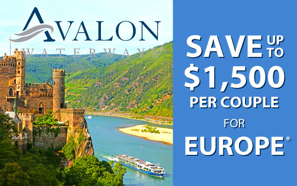 Avalon: up to $2,000 OFF Europe*