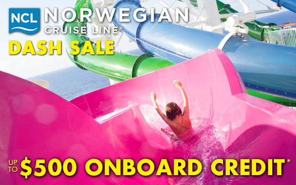 Norwegian Cruise Sale: up to $500 Onboard Credit*