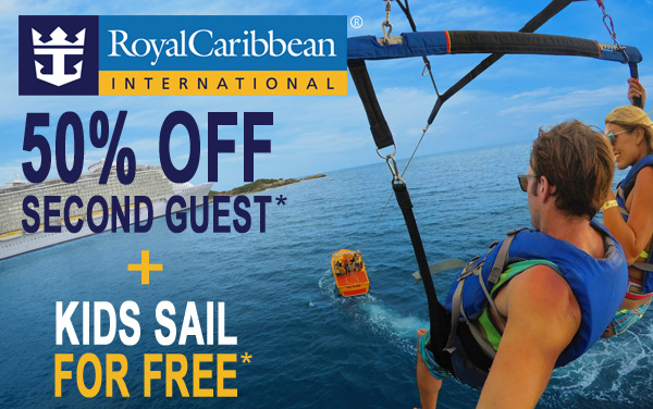 Royal Caribbean: 50% OFF Guest 2*