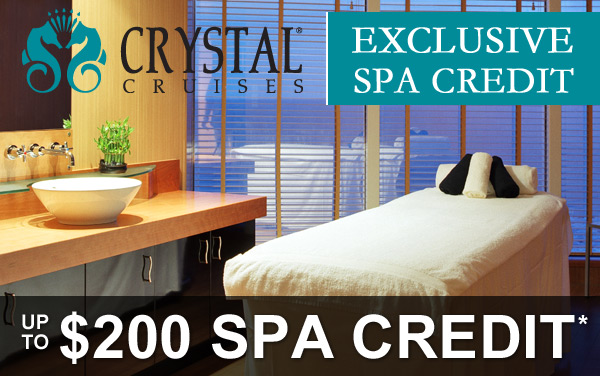 Crystal Cruises: FREE $200 Spa Credit*