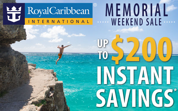 Royal Caribbean Sale: up to $200 Instant Savings*