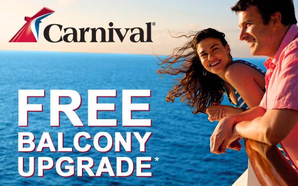 Carnival: Free Balcony Upgrade for Carnival Pride*