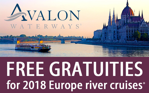 Avalon Waterways: FREE Gratuities for 2018 Europe*