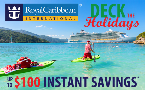 Royal Caribbean Holiday Sale: up to $100 OFF*