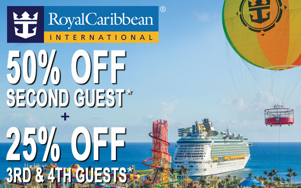 Royal Caribbean: 60% OFF Second Guest*
