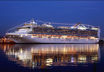 Image result for Princess ship at night