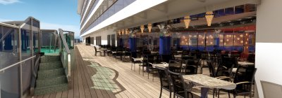 Carnival Dream Lanai Outdoor Dining