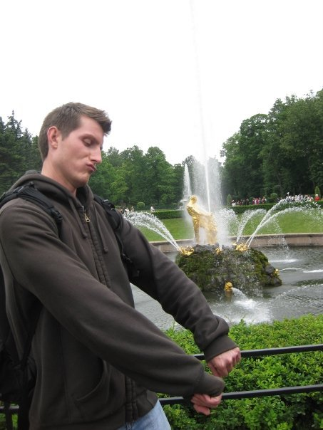 Brandon at the Peterhof Gardens