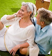 Couple on Lawn