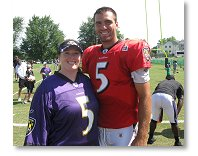 Cruise Consultant Jen C with Ravens Quarterback Joe Flacco