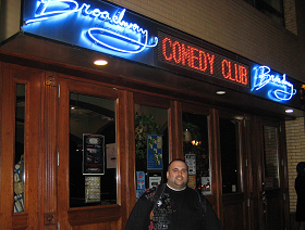 Said D Outside Broadway Comedy Club