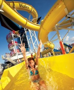 eight year old to serve as godchild of water slide aboard carnival