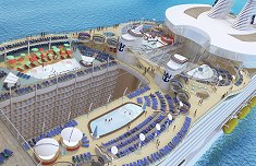 Oasis of the Seas Aerial View