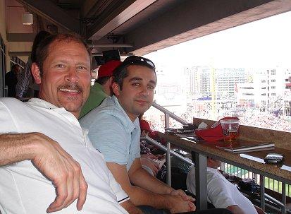 Arthur B. and Bob R. at Nationals Stadium