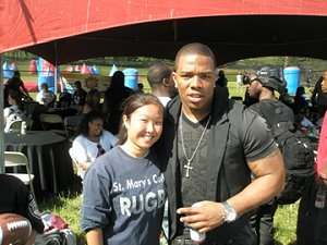 Heather w/ Ray Rice of the Baltimore Ravens