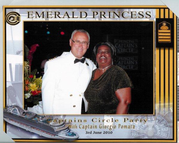 Emerald Princess- Captain Pomata and Gloria   6-3-2010