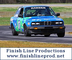 Frans whips his BMW 330is around a tight turn