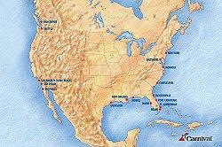 Carnival Port Map