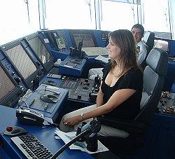 Tina Steers the Ship