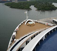 Front of Ship at Sea