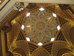 The grand dome in the Emirates Palace
