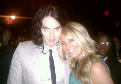 Courtney and Russell Brand