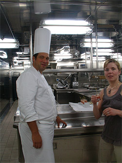 Karolina in the Quest's galley
