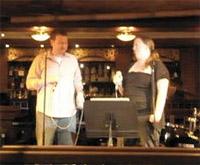 Merry performing karaoke