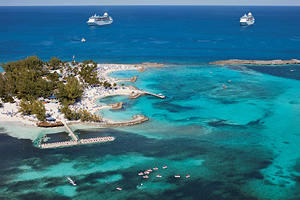 Aerial Coco Cay - Berry Islands - Bahamas courtesy of Royal Caribbean