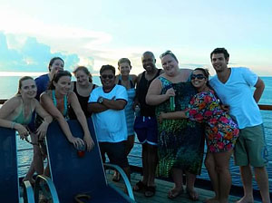 Members of The Cruise Web team enjoy a day at sea!