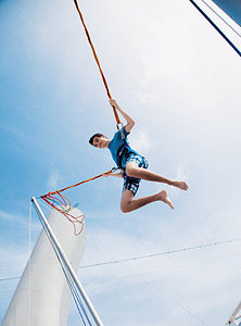 Bungee Jumping on the Norwegian Epic. Courtesy of Norwegian Cruise Line.