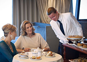 Onboard Tea Time with Oceania - Courtesy of Oceania Cruises
