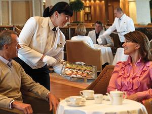 Tea on Cunard. Courtesy of Cunard Line.