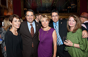 From left: Anderson, Viciana, Shenton, Herrera and Atkins at the Washingtonian Magazine's Best Dressed event.