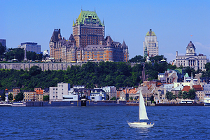 Quebec City Skyline and St. Lawrence River